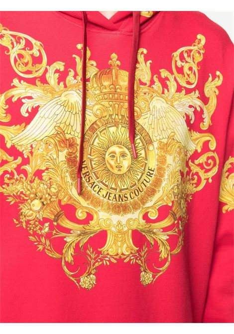 Felpa rossa VERSACE JEANS COUTURE | FELPE | B7GWA7F7S0276514