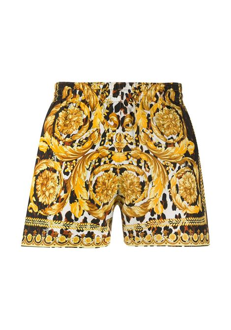 Boxer nero/ oro VERSACE | BOXER DA MARE | ABU08028A232997A7900