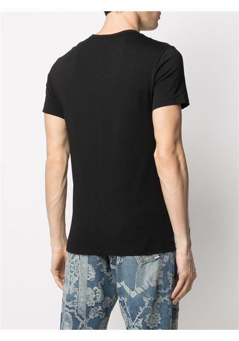 T-shirt nera/bianca VERSACE | T-SHIRT | AU04023AC00058A2A4