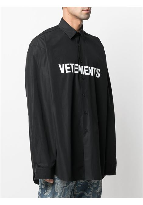 Camicia nera VETEMENTS | CAMICIE | UE51SH300B1004BLACK