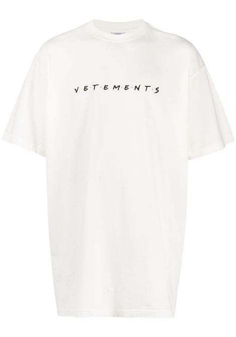 t-shirt bianca VETEMENTS | T-SHIRT | UE51TR340W1611WHITE
