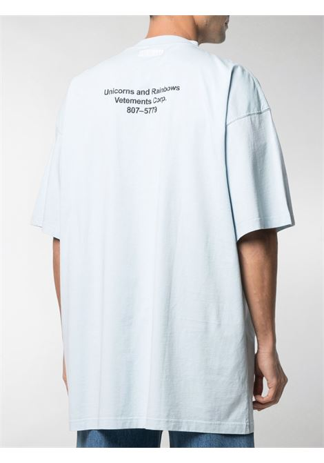 T-shirt azzurra VETEMENTS | T-SHIRT | UE51TR390X1600BABYBLUE