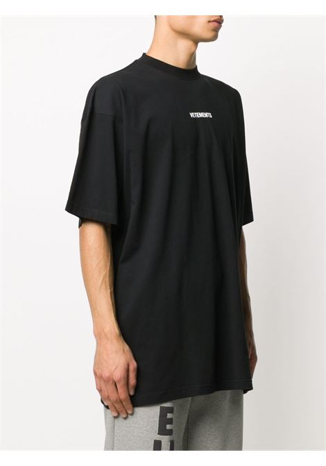 T-shirt nera VETEMENTS | T-SHIRT | UE51TR540B1600BLACK