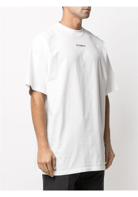 T-shirt bianca VETEMENTS | T-SHIRT | UE51TR540W1600WHITE
