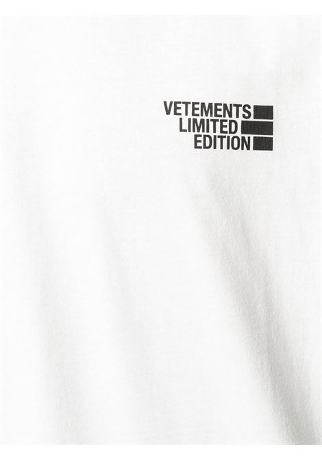 T-shirt bianca VETEMENTS | T-SHIRT | UE51TR720W1611WHITE