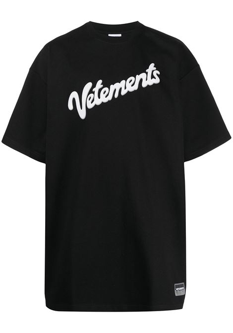 T-shirt nera VETEMENTS | T-SHIRT | UE51TR760B1614BLACK