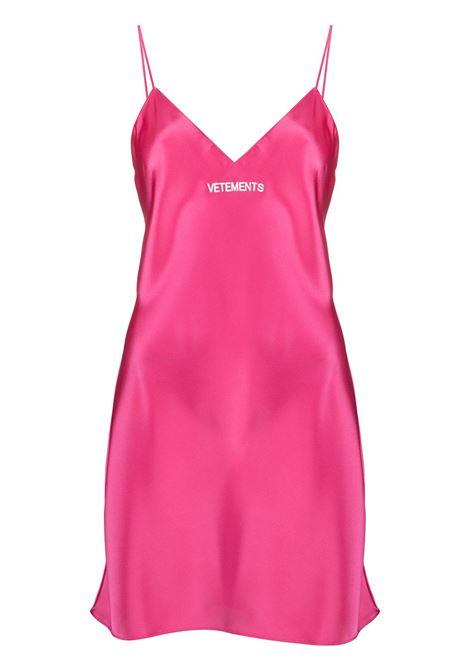 Pink dress VETEMENTS |  | WE51DR600P2607HOTPINK