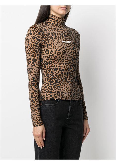 Maglia leopardata VETEMENTS | MAGLIE | WE51TR140L2605LEOPARD