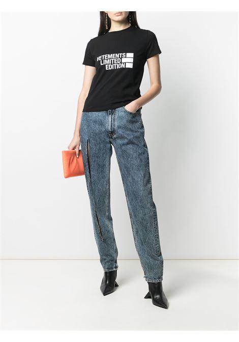 T-shirt nera VETEMENTS | T-SHIRT | WE51TR840B1611BLACK