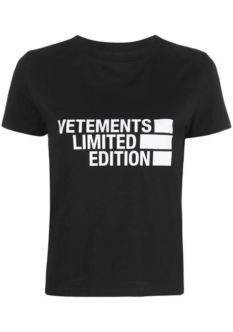 Black t-shirt VETEMENTS |  | WE51TR840B1611BLACK