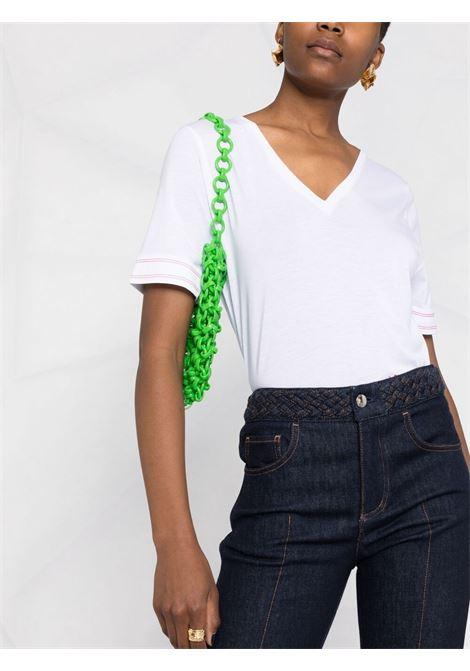 T-shirt bianca VICTORIA BECKHAM | T-SHIRT | 1221JTS002562A7109