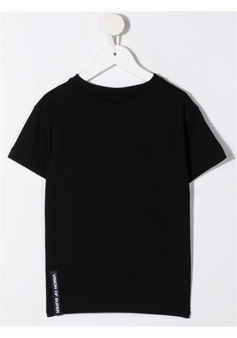 T-shirt nera VISION OF SUPER KIDS | T-SHIRT | VOSKB1SPRAYREDBLACK