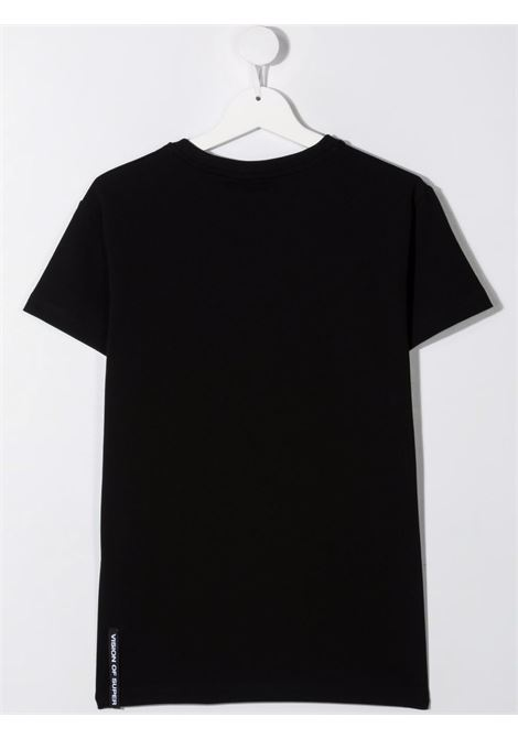 T-shirt nera VISION OF SUPER KIDS | T-SHIRT | VOSKB1SPRAYREDTBLACK