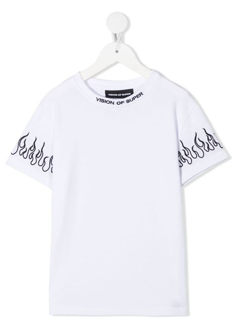 T-shirt bianca VISION OF SUPER KIDS | T-SHIRT | VOSKW1BLACKFLWHITE