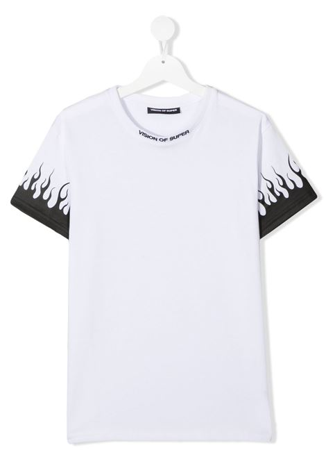 T-shirt bianca VISION OF SUPER KIDS | T-SHIRT | VOSKW1FLBLACKTWHITE