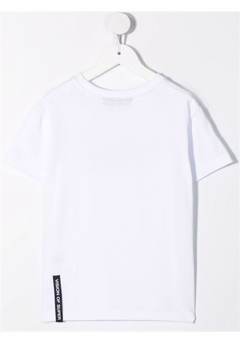 T-shirt bianca VISION OF SUPER KIDS | T-SHIRT | VOSKW1SPRAYREDWHITE