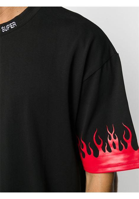 T-shirt nera VISION OF SUPER | T-SHIRT | VOSB1FLREDBLACK