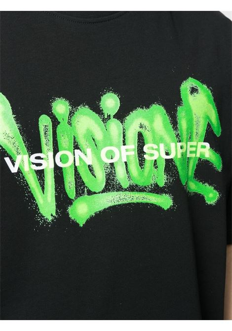 T-shirt nera VISION OF SUPER | T-SHIRT | VOSB1SPRAYGRBLACK