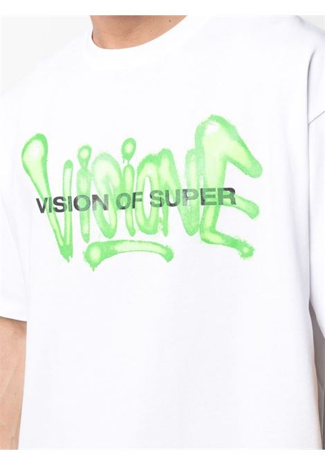 T-shirt bianca VISION OF SUPER | T-SHIRT | VOSW1SPRAYGRWHITE