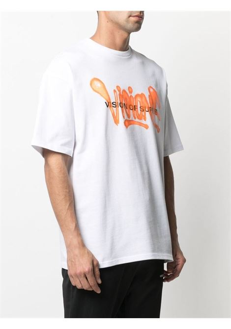 T-shirt bianca VISION OF SUPER | T-SHIRT | VOSW1SPRAYORWHITE