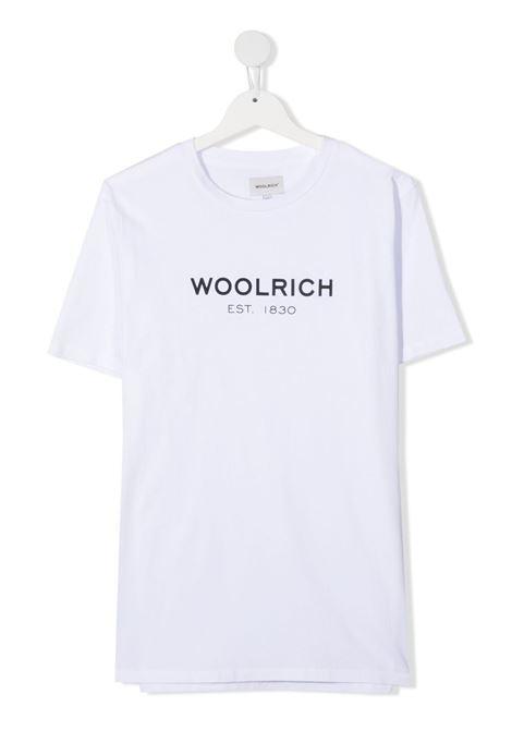 T-shirt bianca WOOLRICH KIDS | CFWKTE0080MRTUT14868041