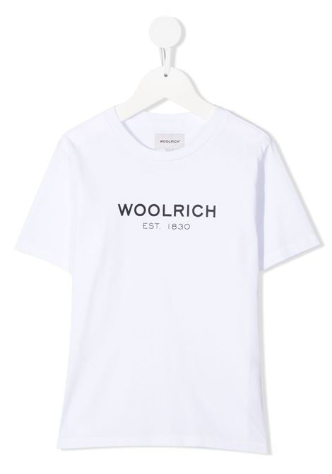 T-shirt bianca WOOLRICH KIDS | CFWKTE0080MRUT14868041