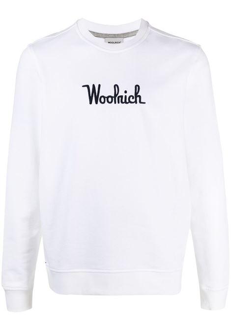 Felpa bianca WOOLRICH | FELPE | CFWOSW0090MRUT25448041