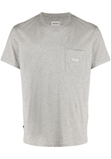 T-shirt grigia WOOLRICH | T-SHIRT | CFWOTE0047MRUT1486103