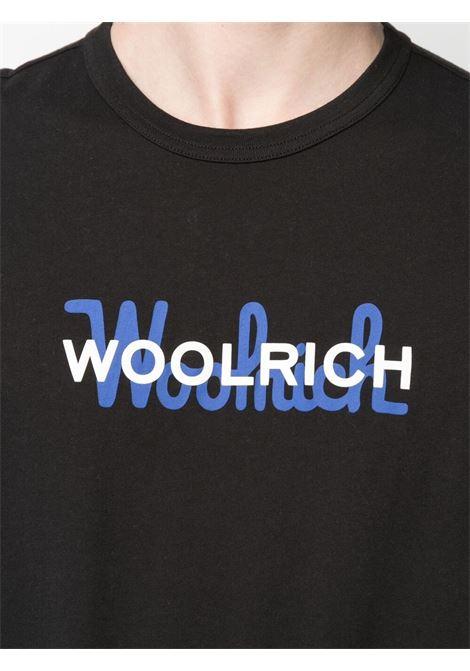 T-shirt nera WOOLRICH | T-SHIRT | CFWOTE0048MRUT1486100
