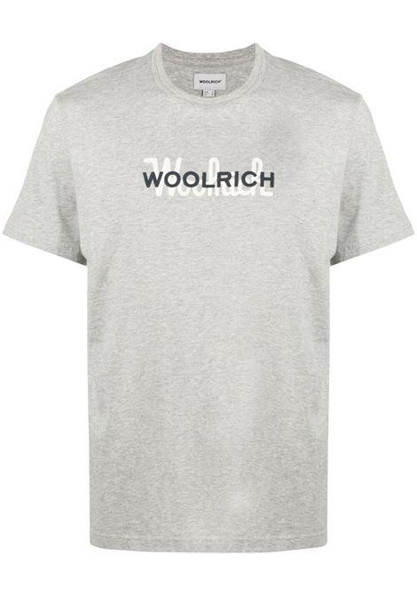 T-shirt grigia WOOLRICH | T-SHIRT | CFWOTE0048MRUT1486103