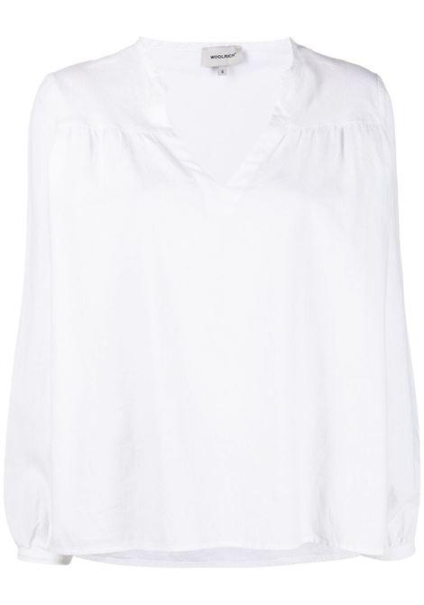 Blusa bianca WOOLRICH | MAGLIE | CFWWSI0090FRUT2589800