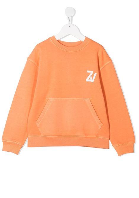 Felpa arancio ZADIG & VOLTAIRE KIDS | FELPE | X2524942V