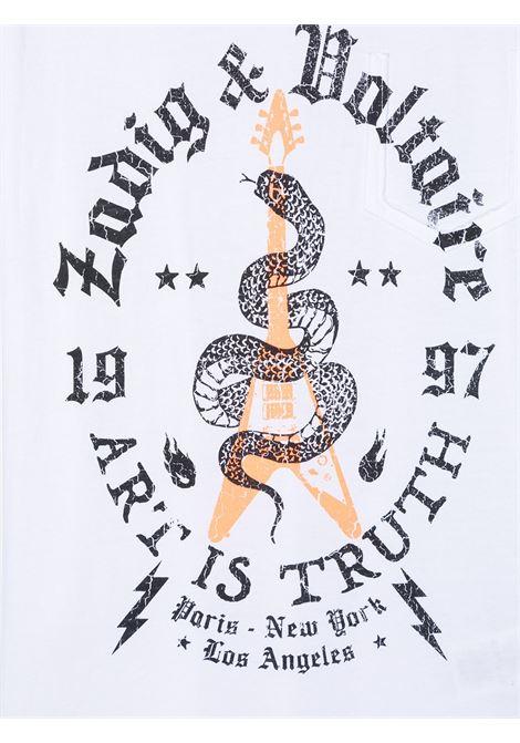 T-shirt bianca ZADIG & VOLTAIRE KIDS | T-SHIRT | X2525410B