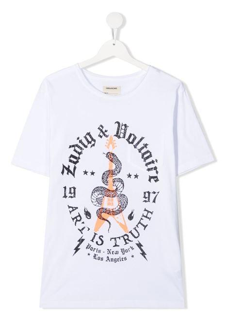 T-shirt bianca ZADIG & VOLTAIRE KIDS | T-SHIRT | X25254T10B