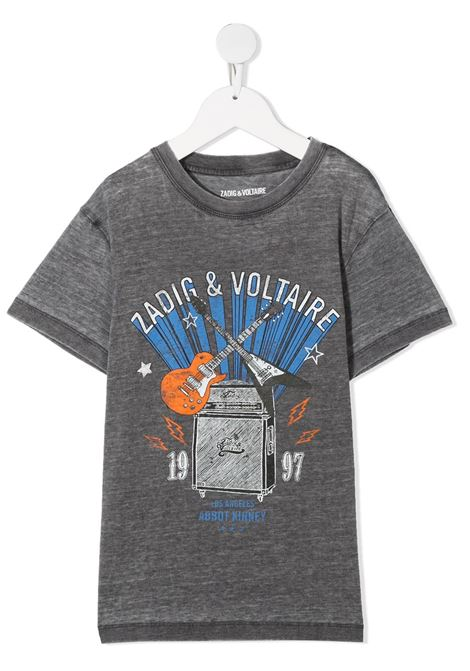 T-shirt grigia ZADIG & VOLTAIRE KIDS | T-SHIRT | X25256A85