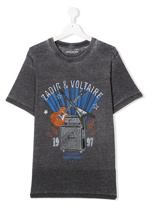 T-shirt grigia ZADIG & VOLTAIRE KIDS | T-SHIRT | X25256TA85