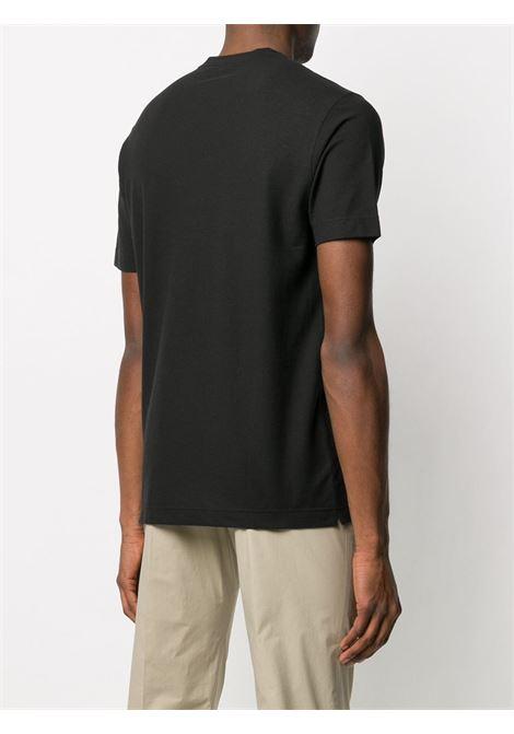 T-shirt nera ZANONE | T-SHIRT | 811821Z0380Z0015