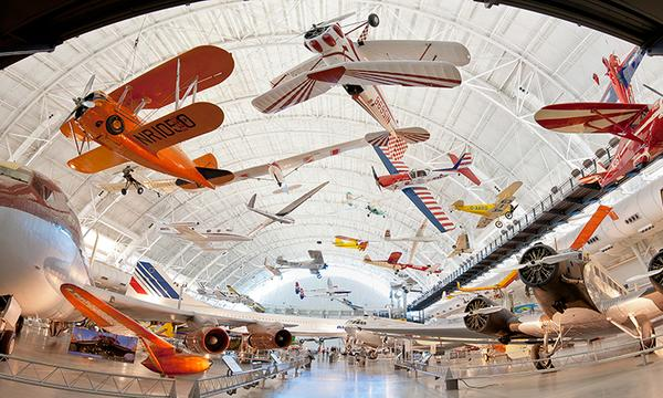 Boeing Aviation Hangar at National Air and Space Museum's Udvar-Hazy Center Courtesy of Smithsonian Institution