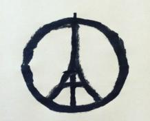 Artist Jean Jullien's powerful rendition of the Peace Symbol