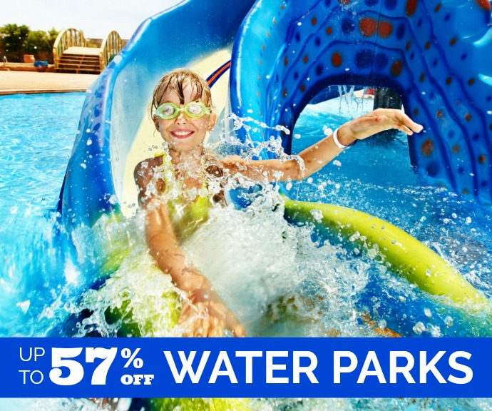 Up to 57% off waterparks!