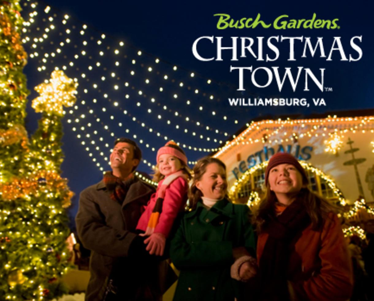 30 OFF a Single Day Ticket to Busch Gardens Christmas Town in