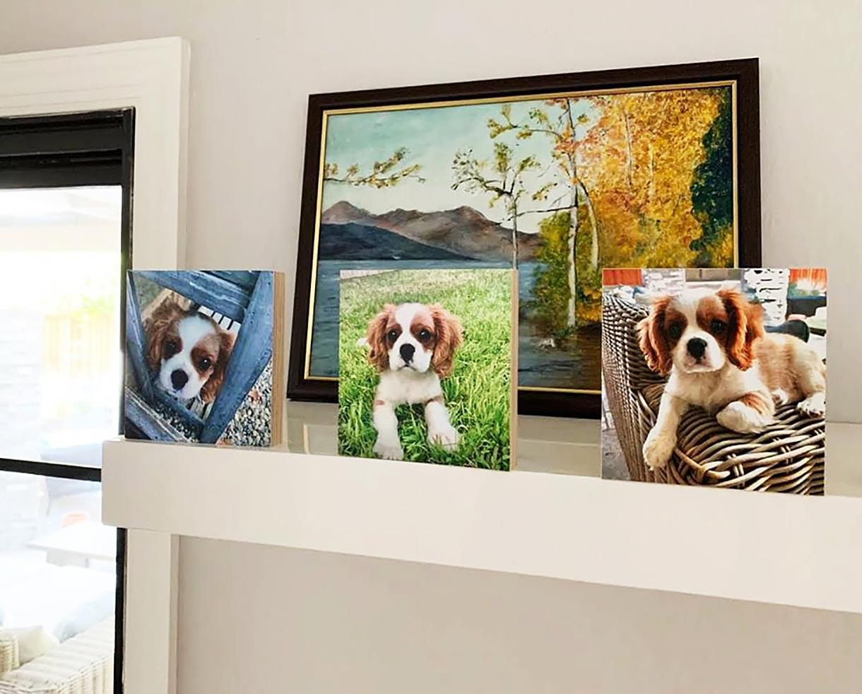 Up to 53% Off Handmade Wood Photo Blocks - Makes a Great Gift!