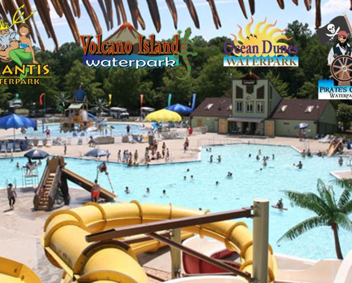9046d2d4eb3 $10 for 4-Pack of Waterpark Tickets in Northern Virginia - Atlantis, Pirate's  Cove, Ocean Dunes or Volcano Island - Weekday Afternoon Special! (50% off)