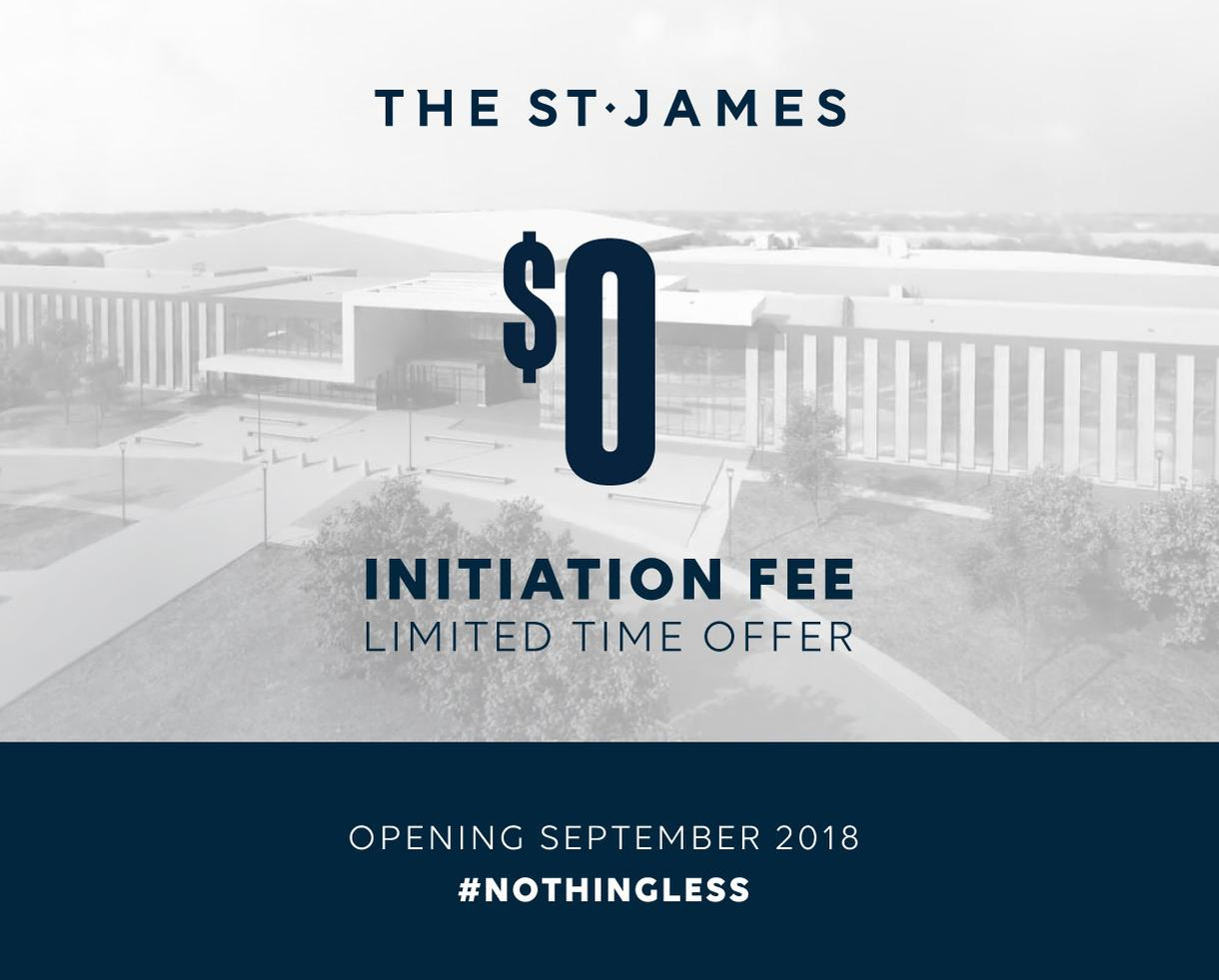 THE ST. JAMES: Opening in September!