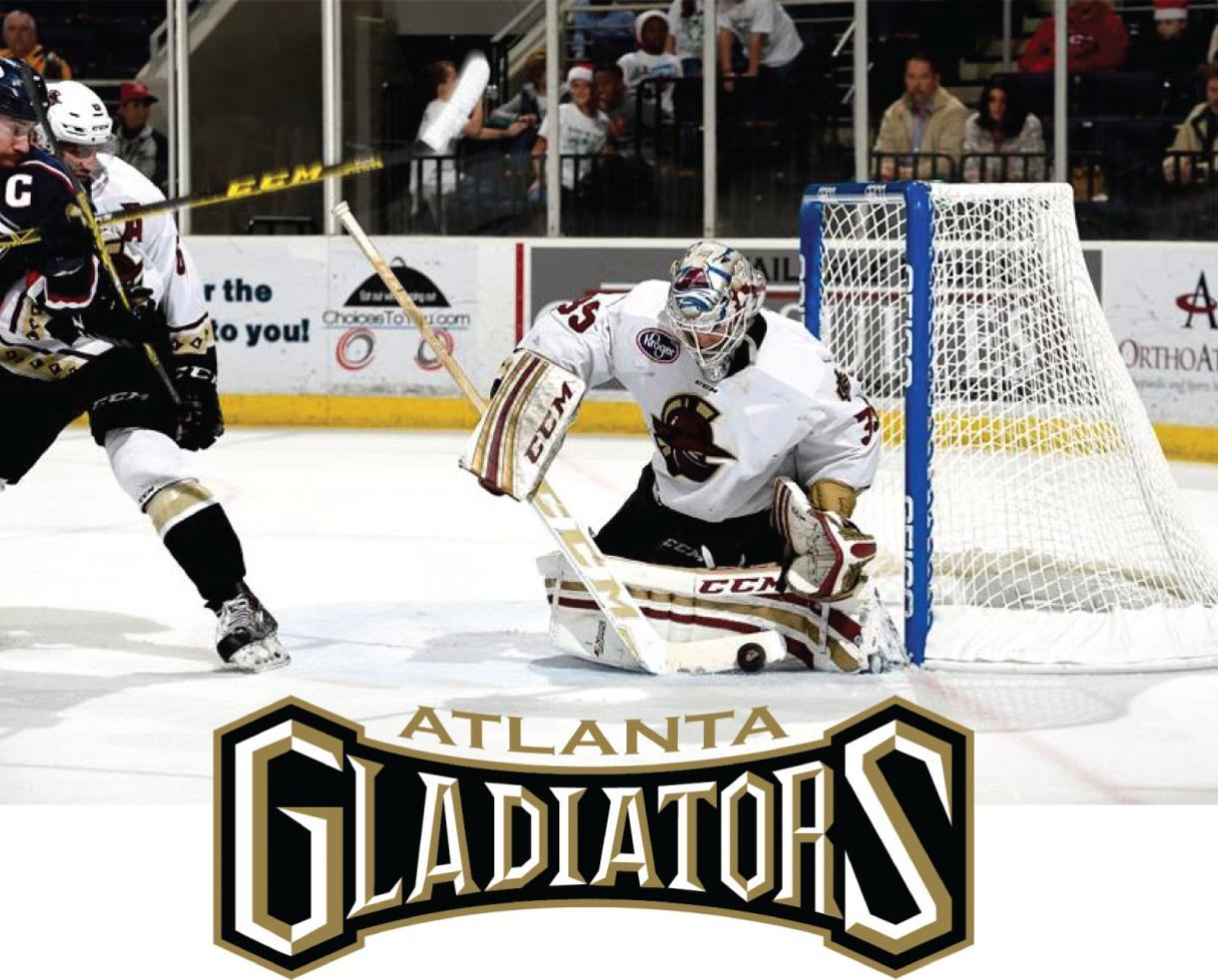 $12 for Premium Level Ticket + Hot Dog & Soda to Atlanta Gladiators Hockey Game on January 16 ($30 Value - 60% Off)