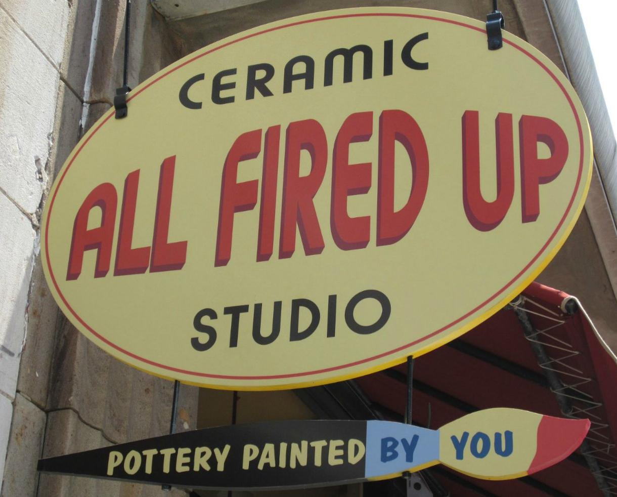 All Fired Up Pottery Painting