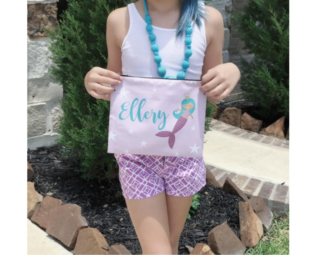 $14 for Personalized Pencil or Cosmetic Bag OR $55 for 5 - Includes Shipping! Perfect for Back to School, Vacations, Gifts & More! (Up to 53% Off)