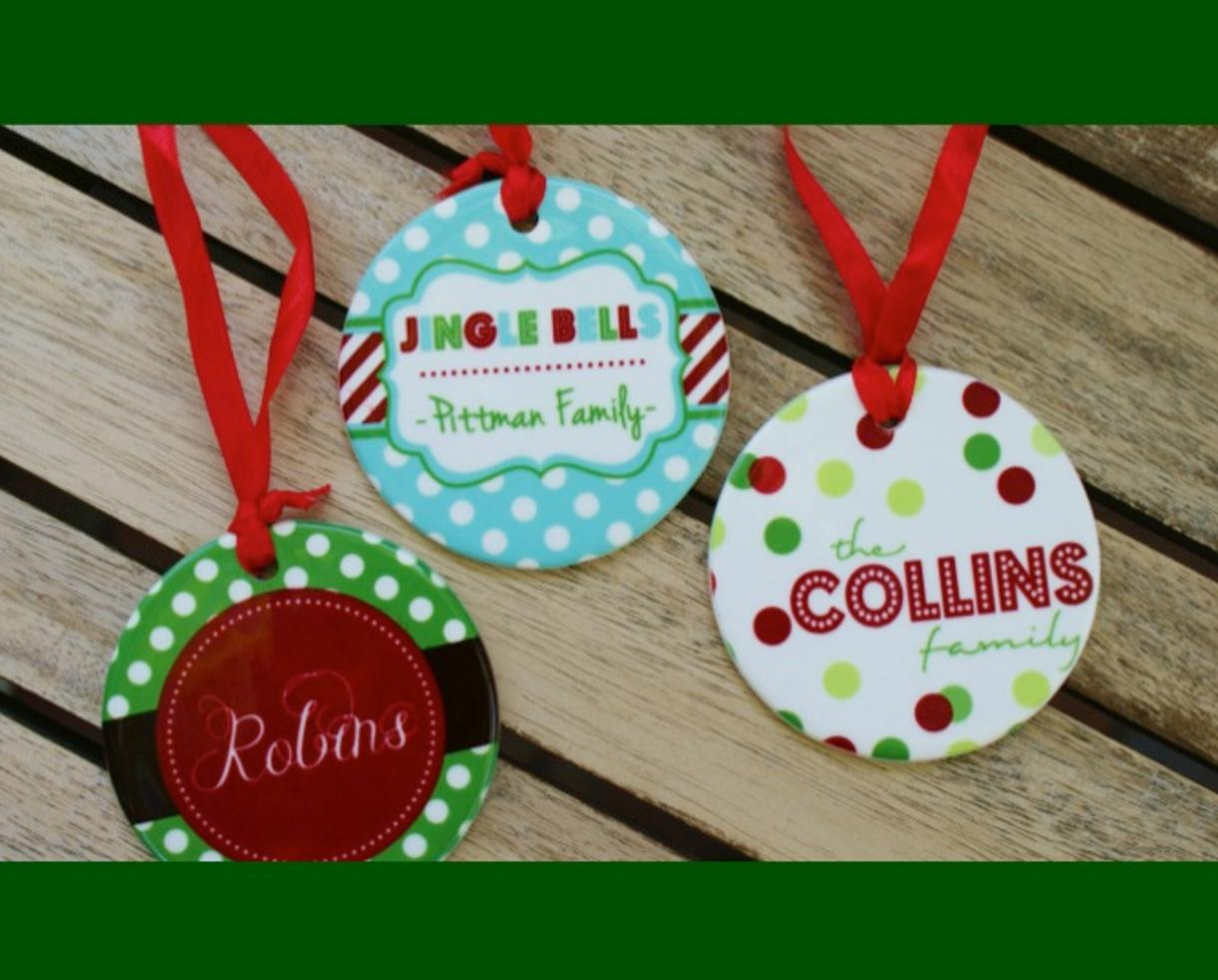 Deal: $11 for Personalized Christmas Ornament - Includes Shipping ...