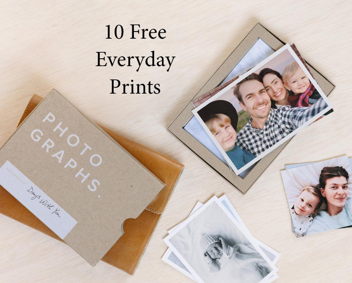 10 Free Everyday Prints at Artifact Uprising - Seven Unique Sizes Printed on Textured, Matte Paper