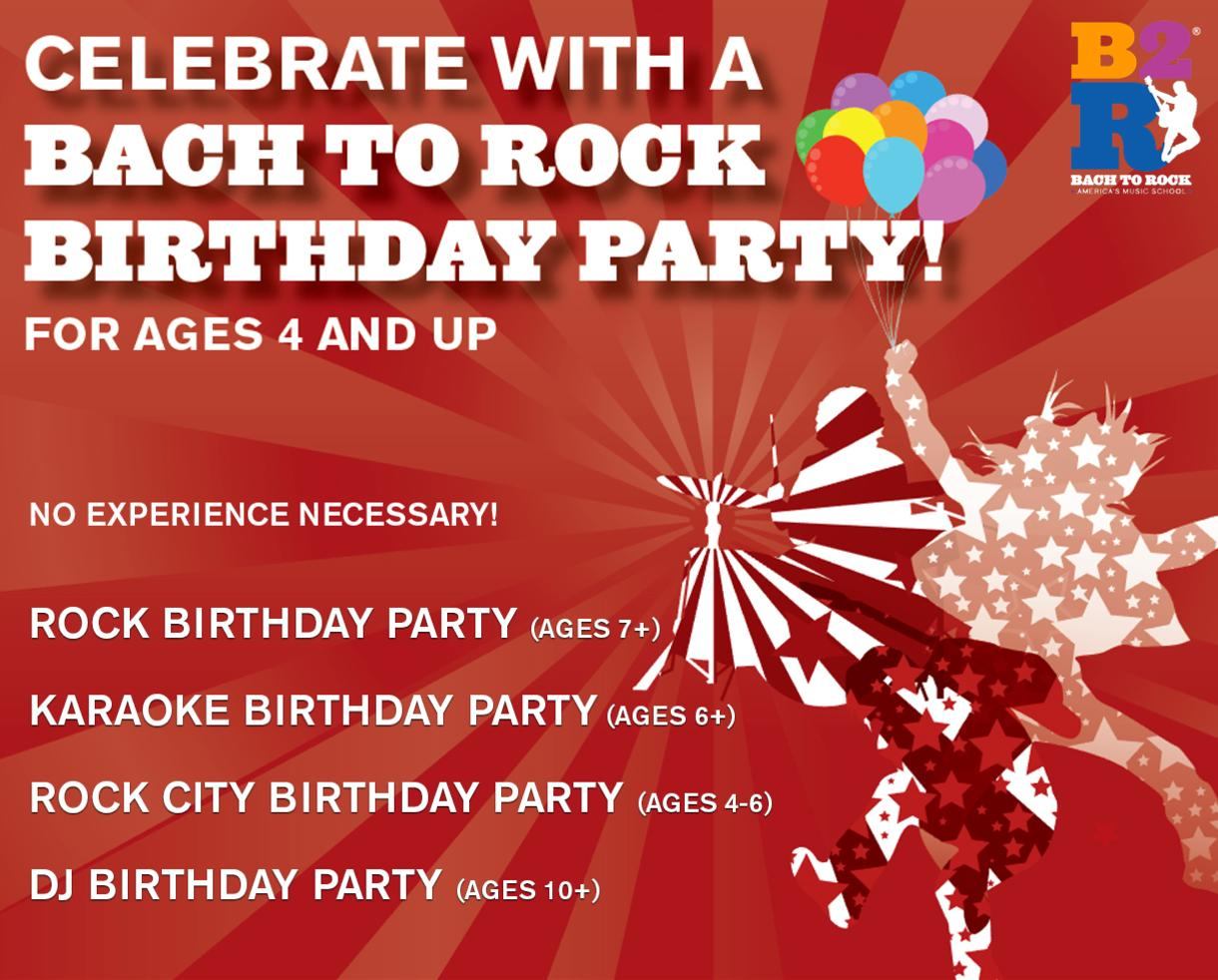 $199 for Bach to Rock Birthday Party for Up to 12 Kids Ages 4 and Up - 7 Locations! (34% Off)